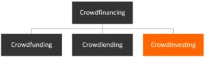 Crowdfinancing-Unterteilung