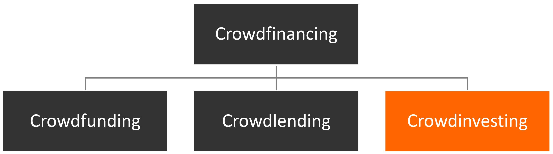 Crowdfinancing Unterteilung
