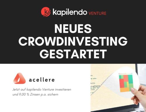 Acellere Crowdinvesting-Kampagne auf kapilendo Venture gestartet
