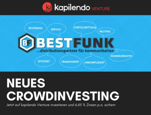 Bestfunk Crowdlending-Kampagne auf kapilendo Venture gestartet