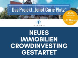 Immobilien-Crowdinvesting Joliot Curie Platz auf Exporo