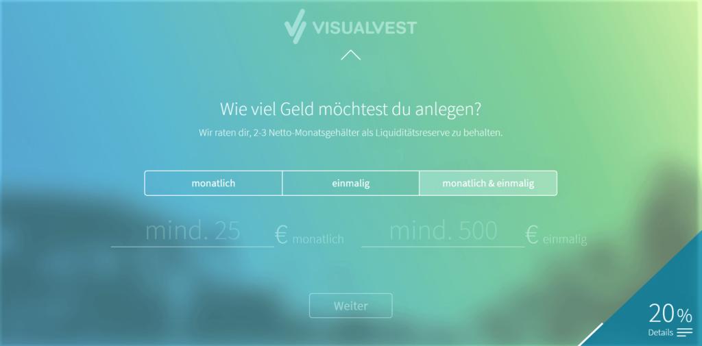VisualVest neues Design